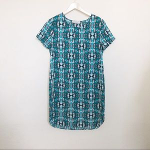 Wayf blue shirt dress
